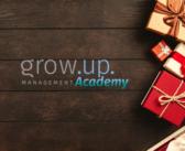 Weihnachts-Rabatt-Aktion grow.up. Academy
